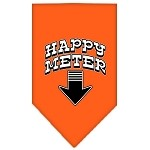 Happy Meter Screen Print Bandana Orange Small